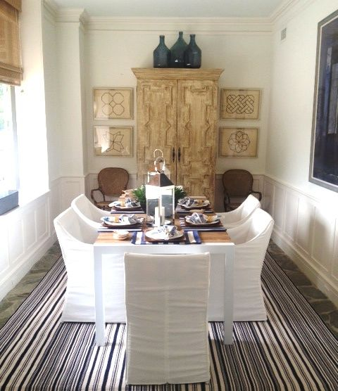 Rug Chairs And Table Are All Indoor Outdoor Great Looking Super Functional Neutral Dining RoomsDining Room DesignOutdoor