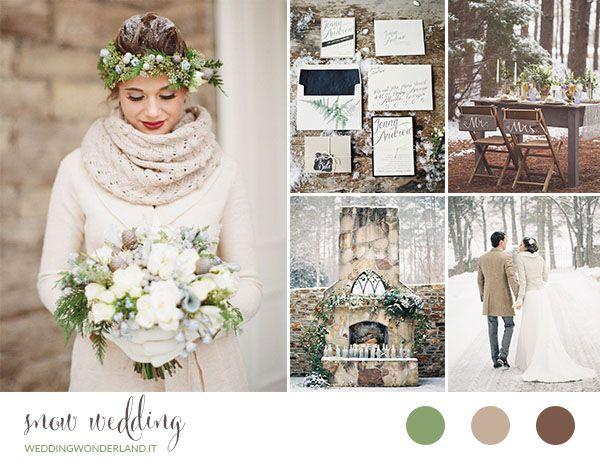 snow wedding inspiration