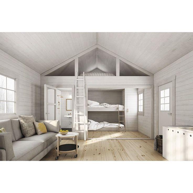 Nyby 25 m2 är en större stuga från Baseco och ett attefallshus som passar som sommarstuga, gäststuga eller bostad året runt.