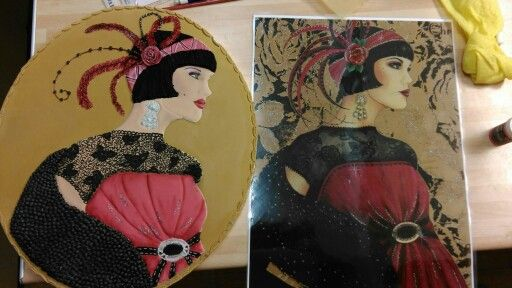 Art deco lady from  picture