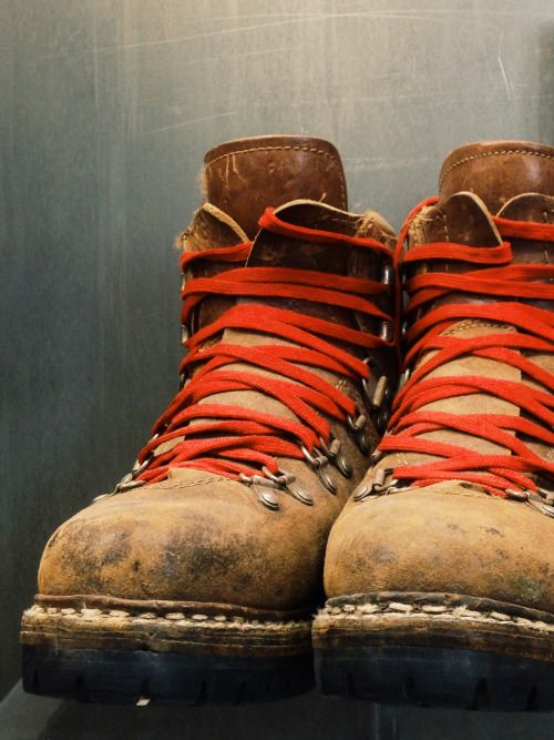 heritagestyle:  wasa:  Vintage Vasque hiking boots at the Red Wing Museum, Red Wing, MN.  #Boot Style