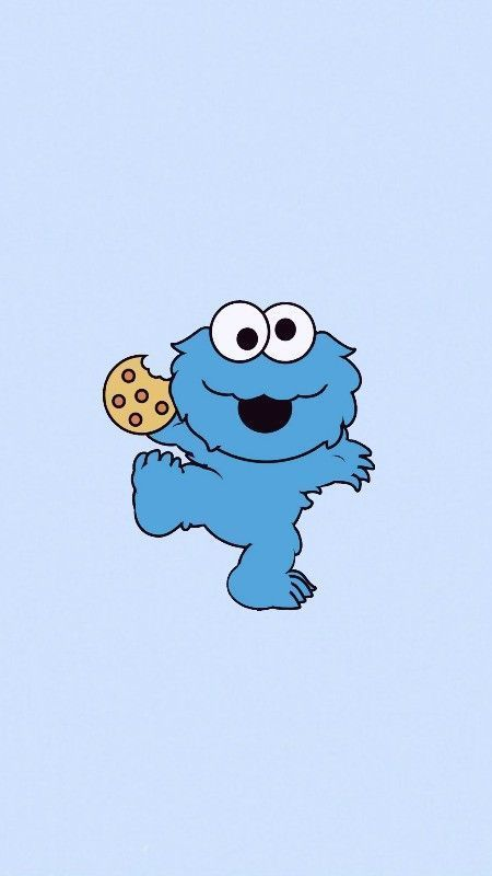 Cookies Monster :: … Cliquez ici pour télécharger le fond d'écran mignon Cookies Mon …..