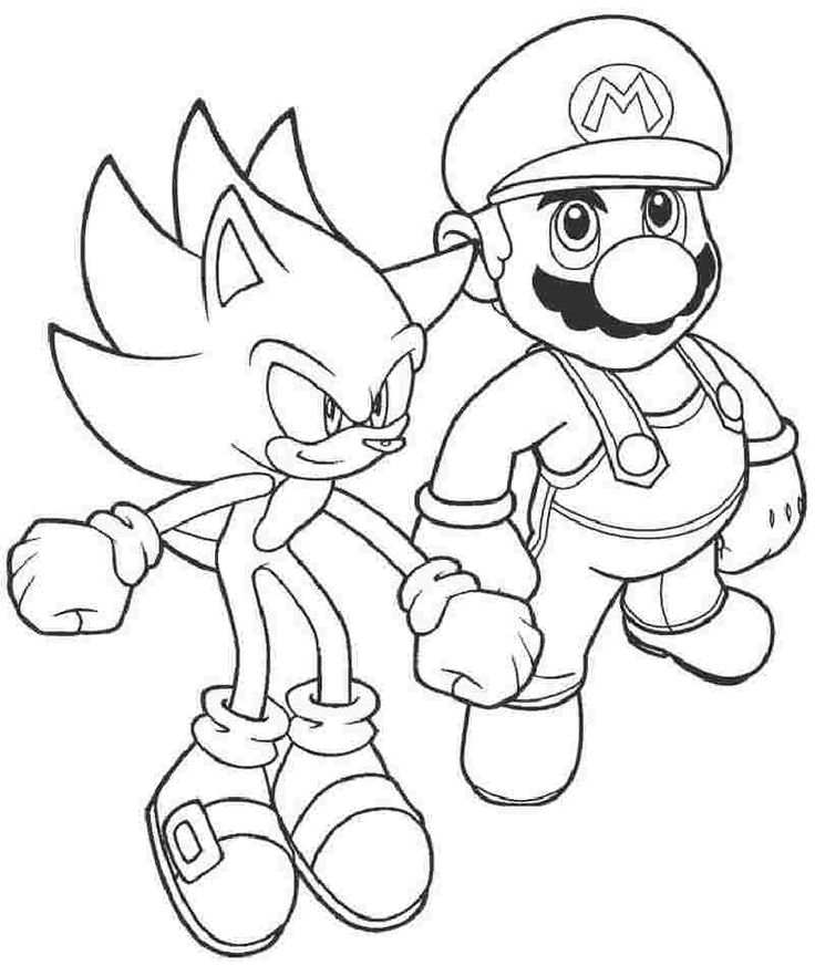 10+ Coloring pages for kids boys mario info