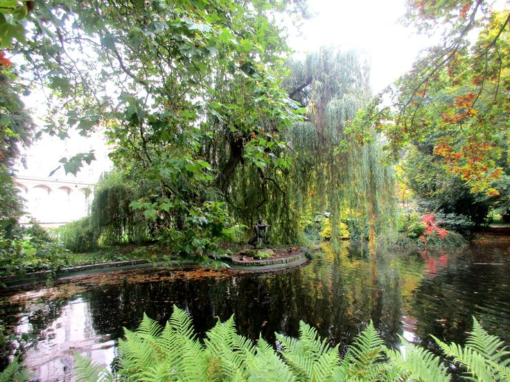 Jezírko v parku - Karlovy Vary - Česko