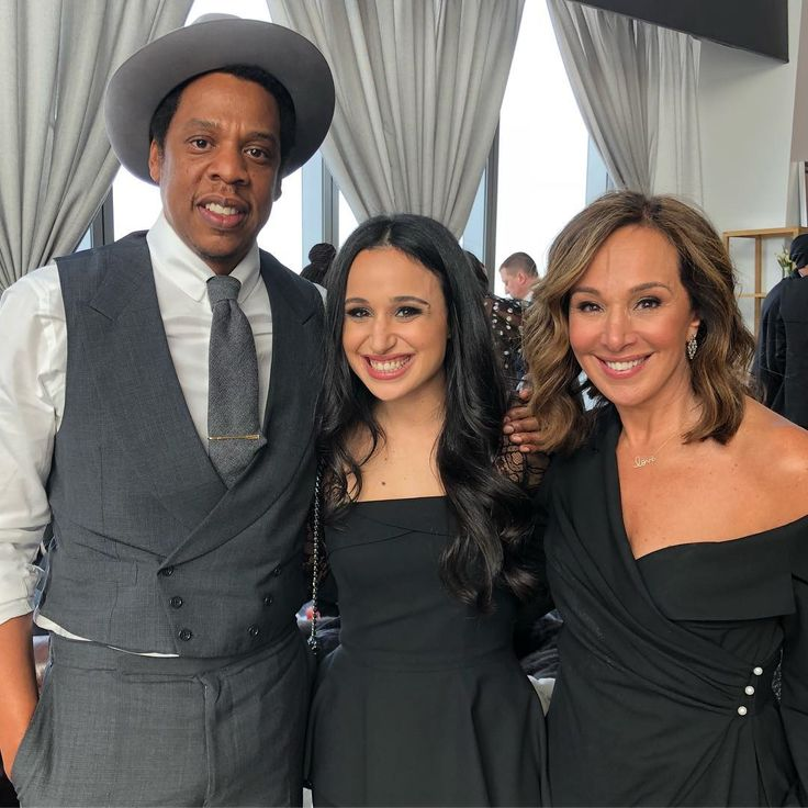 """aintnojigga:  """"JAY-Z with Fox 5 news anchor Rosanna Scotto and her daughter Jenna Ruggiero, photographed at today's Roc Nation Brunch, which is being held in the observatory at the top of One World Trade Center in Lower Manhattan.  Hov is wearing a..."""