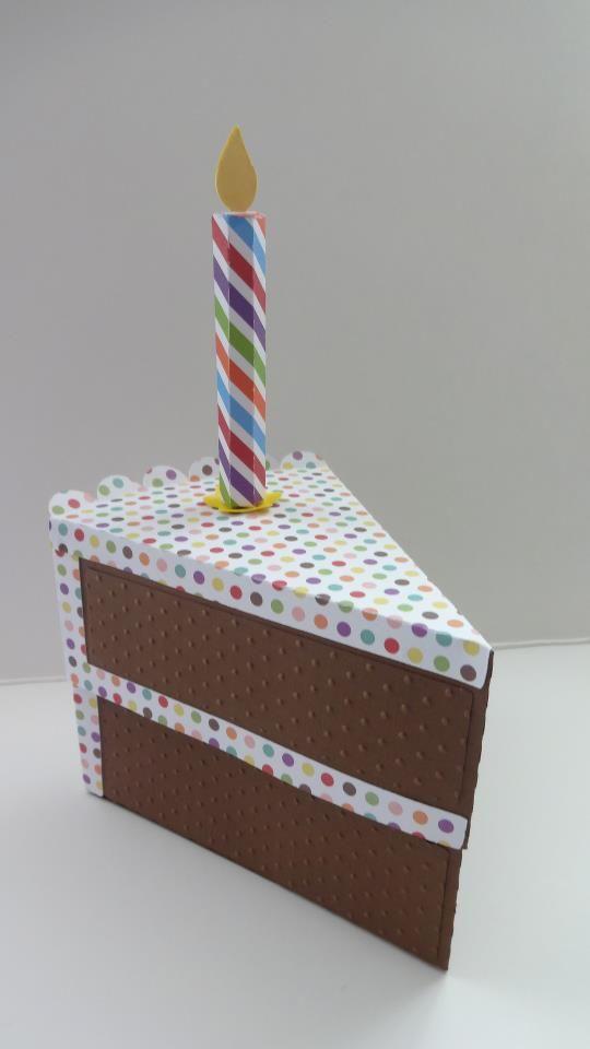 Cake slice box- I love it! #SVGCUTS