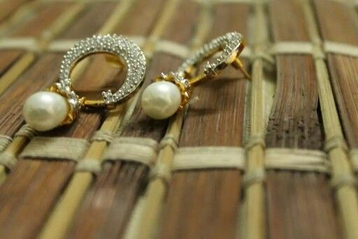 Handcrafted Pearl drop #earrings - CraftsandLooms.com