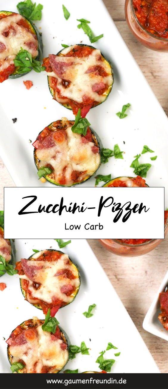 Schnelles und einfaches Rezept für leckere Zucchini-Pizzen – die ideale …   – GESUNDE SNACKS | healthy snacks