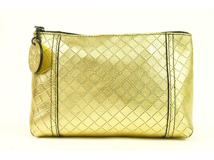 Bottega Veneta Gold Intrecciomirage Cosmetic Case Cruise 20132014 collection | swapshop.gr