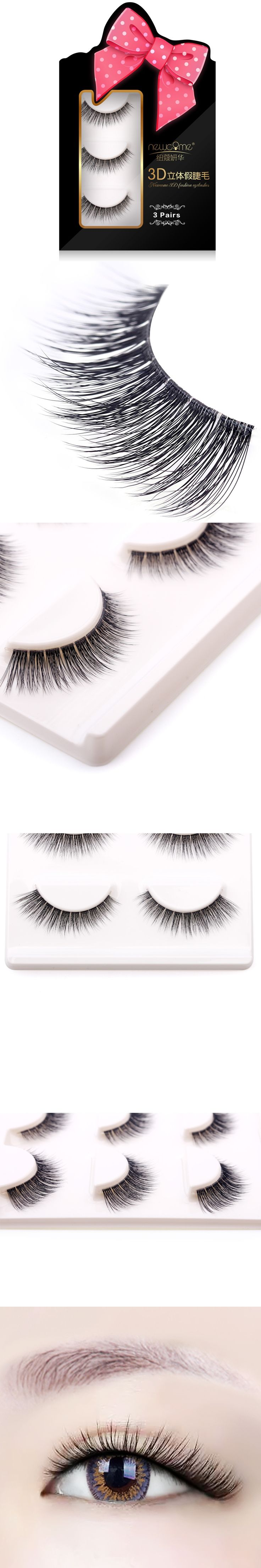 3 Pairs 3D Handmade Thick Mink Eyelashes Natural False Eyelashes for Beauty Makeup fake Eye Lashes Extension-1