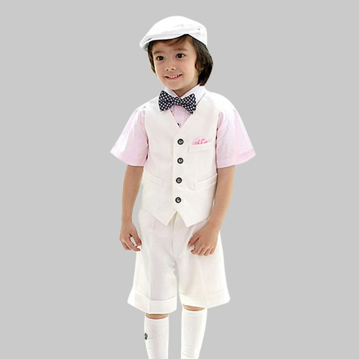 Free Shipping Boys Girls Formal Party Wedding Suits Children Performance Clothing Sets Short Sleeve Suit Dress //Price: $US $21.05 & FREE Shipping //     #beauty