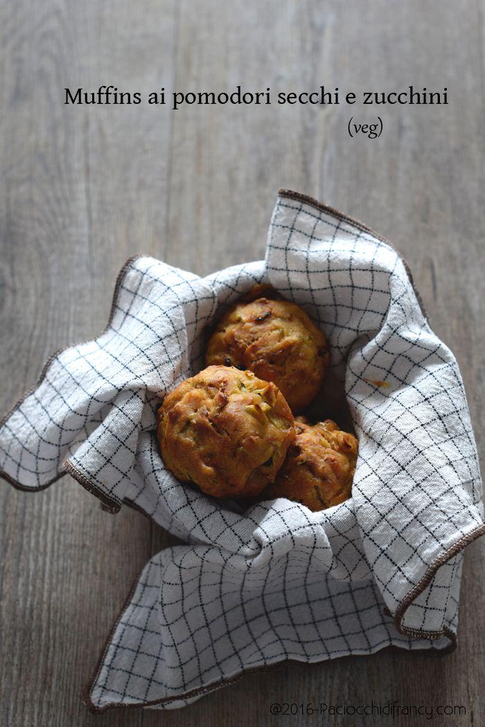 Muffin zucchine pomodori secchi vegan