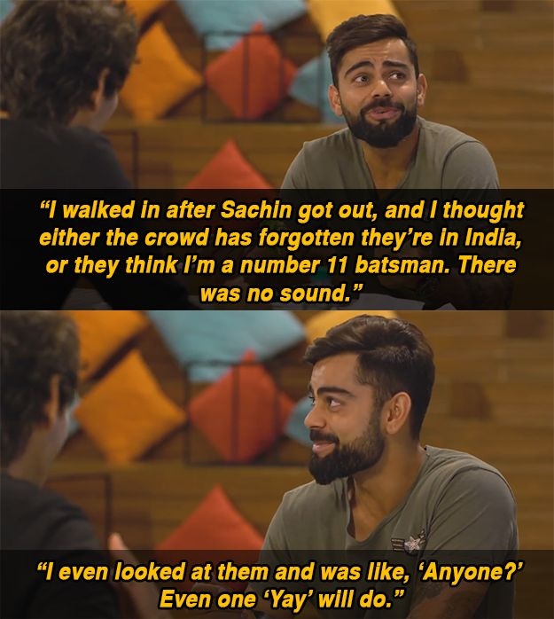 Everything from food to Anushka Sharma. Oh, and bitching about his teammates... LOTS of bitching about his teammates.