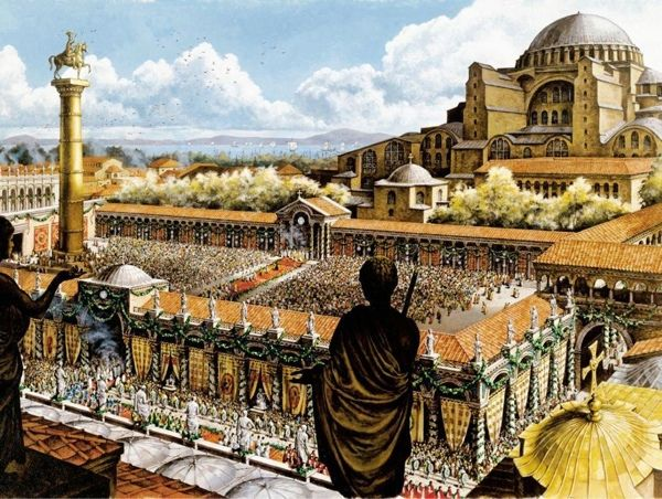 Constantinople was the capital city of the Byzantine Empire. It was founded at AD 330.
