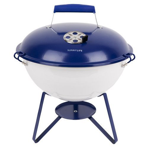 Portable Barbecue in Blue & White design by SunnyLIFE
