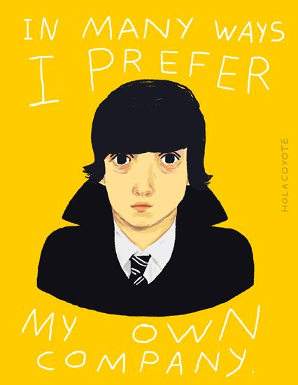 In many ways, I prefer my own company. - Submarine (2010) [Movie Quotes - Poster]