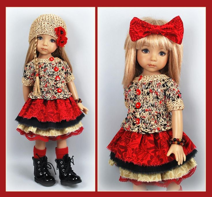 Beige Red And Black Outfit from maggie_kate_create on ebay ends 8/28/14. SOLD for $122.50