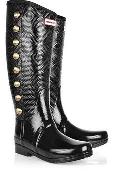{hunter} Regent Grosvenor embellished wellington {boots}