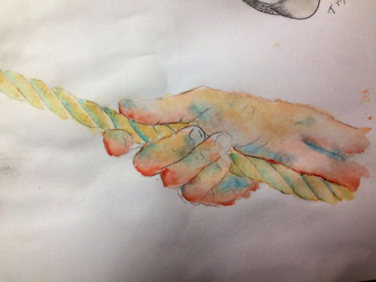 Hand watercolour study