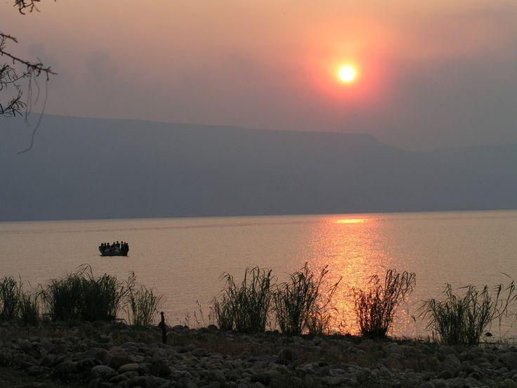 Lake Tanganyika, sunset at Mpulungu in Zambia.