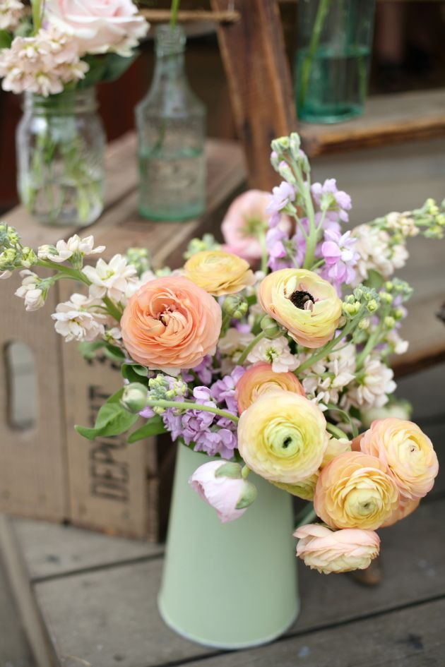 Pastel florals breathe life into any Springtime wedding. | Downton Abbey, as seen on Masterpiece PBS