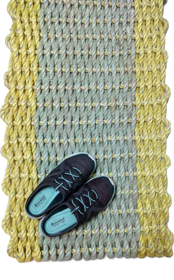 Reclaimed lobster rope mat 22x40 Doormat Unique Gift Entry Rug