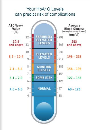 A1c Self Check System - an indicator but not an absolute, as it gives a three month average, based on highs and lows. Consistent glucose control is the key to managing diabetes.