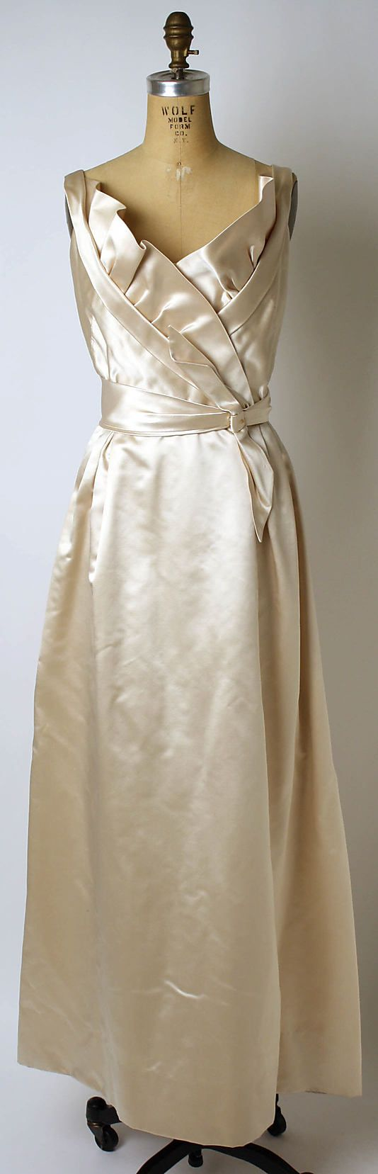 Christian Dior (French, 1905-1957). Evening dress, late 1940s. House of Dior (French, founded 1947). The Metropolitan Museum of Art, New York. Gift of Mrs. Gilbert W. Chapman (1974.156)