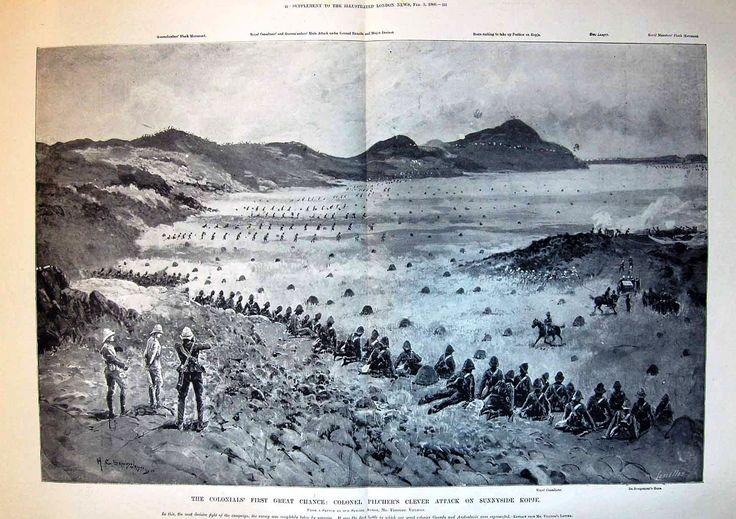 1900 Boar War -Colinials Pichers attack Sunnyside Kopje