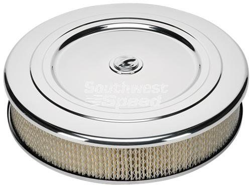 "NEW BILLET SPECIALTIES CLASSIC POLISHED ALUMINUM, LARGE ROUND AIR CLEANER ASSEMBLY, 14"" DIAMETER X 3"" TALL WITH K&N LIFETIME FILTER ELEMENT & STAINLESS STEEL HARDWARE Southwest Speed http://www.amazon.com/dp/B00XWPIEW6/ref=cm_sw_r_pi_dp_0rjxvb0BS45VZ"
