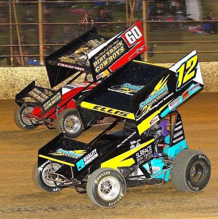Kristy Ellis and Jordyn Charge! @kristyv12 @jordyyy60 @premierspeedway @valvolineraceway @valvoline @ultimatesprintcar @adambrandofficial #60 #ladyracer #younggun #premierspeedway #speedway #sprintcar #life #dirtdonthurt by australianspeedway