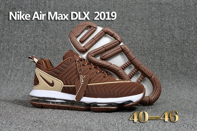 Cheap Wholesale Nike Air Max Dlx 2019 Brown Beige White Running Nike Shoes Cheap Wholesale Nike Shoes Running Shoes For Men