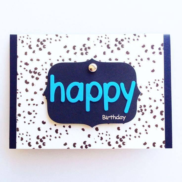 Male Birthday Scrapbooking Card. Made by Pammypumpkin!