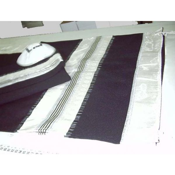 Wool Man Tallit Decorated With Silk & Made In Israel  #gift #judaica #israel #mitzvah #jewish #israeli #holyland