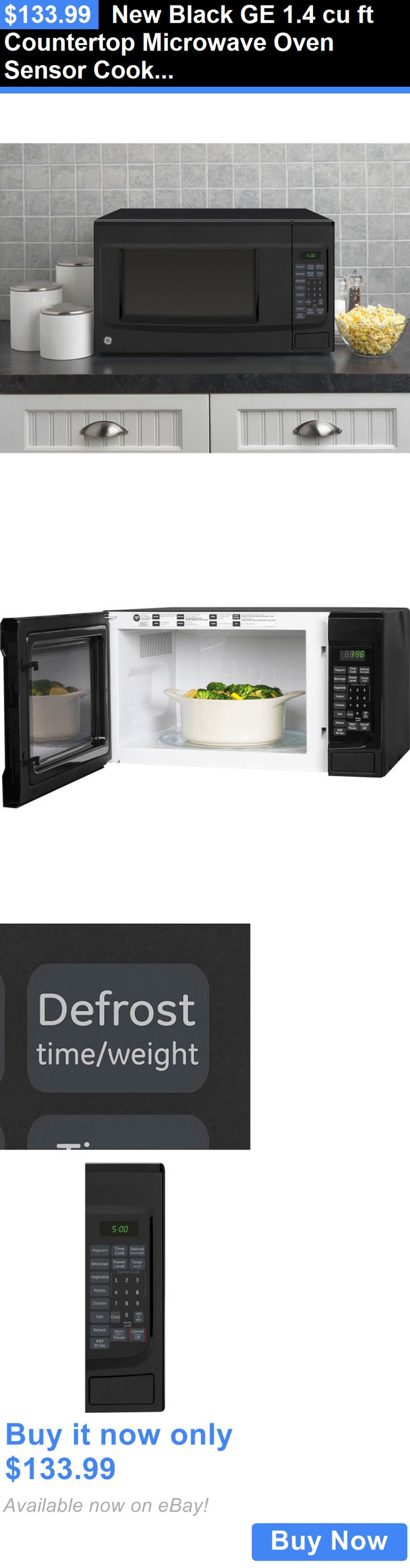 Major Appliances: New Black Ge 1.4 Cu Ft Countertop Microwave Oven Sensor Cooking BUY IT NOW ONLY: $133.99