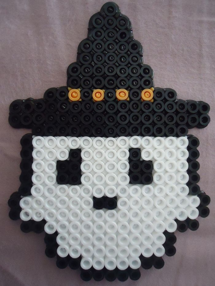 Ghost Witch - Halloween perler beads by PerlerHime