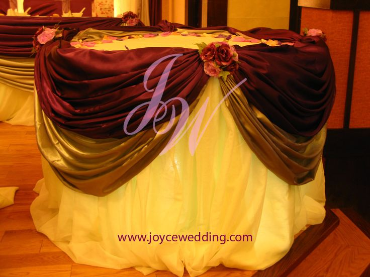 cake table decorations for weddings | cake table is grand and classy for # wedding # reception having 2 ...
