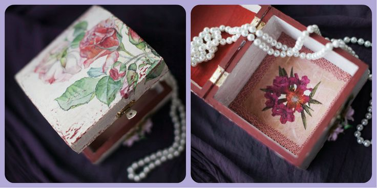 Sweet shabby chic jewelry box