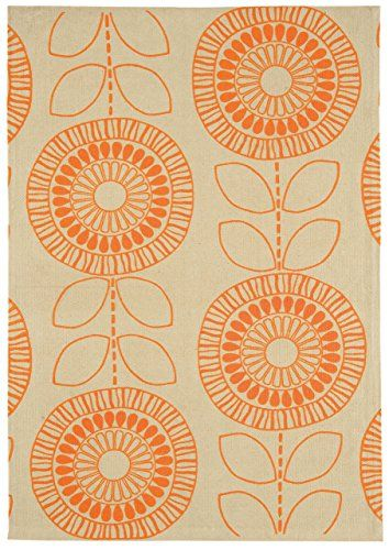 Teppich Wohnzimmer Carpet scandinavisch Design ONIX SCANDI BLUME RUG 100% Baumwolle 120x170 cm Rechteckig Orange   Teppiche günstig online kaufen https://www.amazon.de/dp/B01GDC5QM0