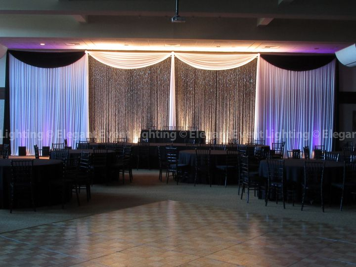 Our Signature Crystal Curtain Backdrop illuminated to make the crystals pop and glisten! Event LightingWedding ... & 43 best Fabric Backdrops images on Pinterest | Backdrops Ceilings ... azcodes.com