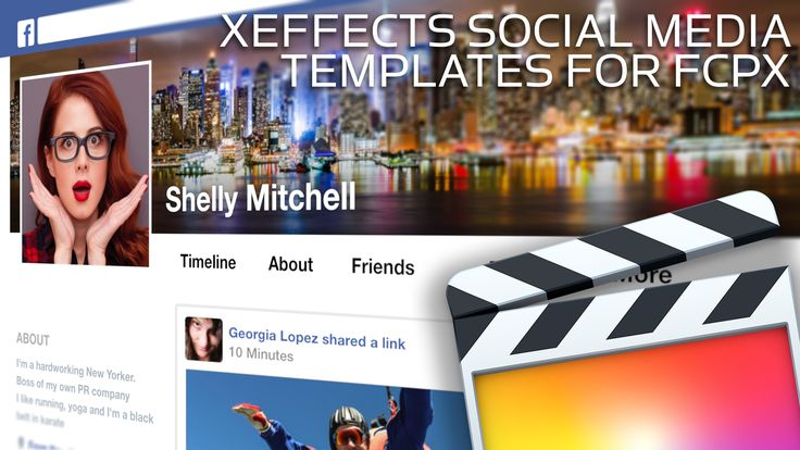 https://fxfactory.com/info/xeffectssocialmedia/ Emulate popular social media posts and webpages in FCP X. Templates include all the elements for single posts...