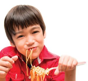 Ask a Dietitian: My kids love pasta but is it good for them?  Short answer: YES! Find out how to use pasta as a way to serve kids more veggies and legumes, and just how many beneficial nutrients different pasta varieties contain.