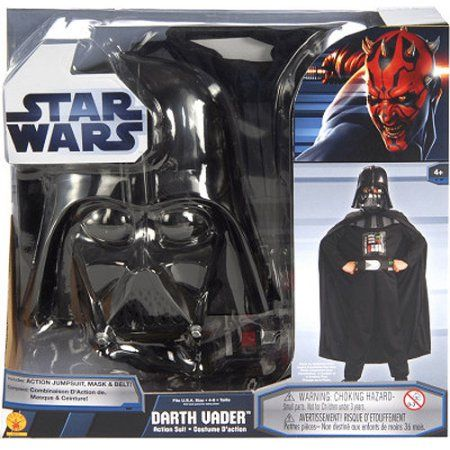 Darth Vader Role-Play Box Set Child Costume, Boy's, Size: Small, Black