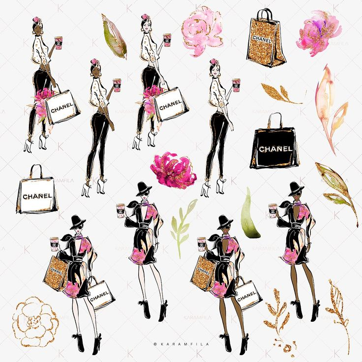 Spring Fashion Clipart - Illustrations