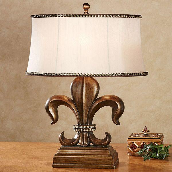 Fayette Jeweled Fleur De Lis Table Lamp Lamp Table Lamp Elegant Table Lamp Fleur de lis table lamps