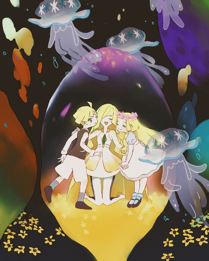Lusamine, Lillie, and Gladion in the Ultra Wormhole. Other ...