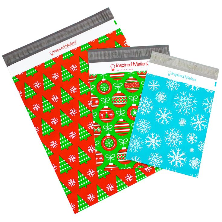 Christmas Combo Pack - Pack of 30 - Snowflakes, Ornaments, Christmas Trees - Writable Surface: No Labels Required