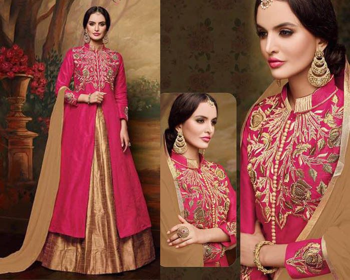 Indian Designer New Wedding Anarkali Bollywood Pakistani Lehenga Suit Embroidery #Handmade #LehengaSuit