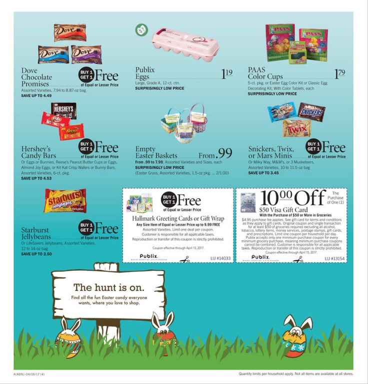 Publix Easter Candy Ad April 5 - 15, 2017 - http://www.olcatalog.com/grocery/publix-sale.html