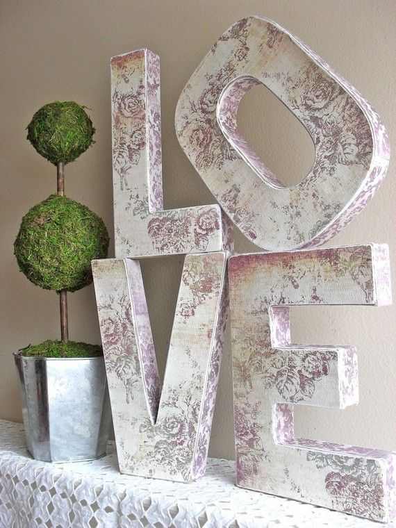 idea for favor table, guestbook table have guests sign the letters as a guest book then hang on wall in home love